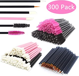 JIULORY Disposable Makeup Applicators Mascara Wands & Lipstick Applicators & Eyeliner Brushes 300PCS Makeup Applicators Tool Kits