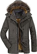 Winter Coats Jackets for Men Warm Parka Faux Fur Lined with Detachable Hood