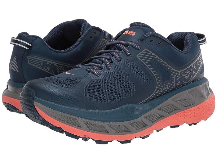 Hoka One One  Stinson ATR 5 (Majolica Blue/Fusion Coral) Womens Shoes