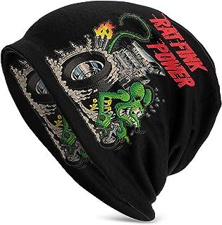 Lsjuee Rat Fink Cappello lavorato a maglia adulto Cappello casual Beanie Inverno caldo Unisex Cappello lavorato a maglia l...