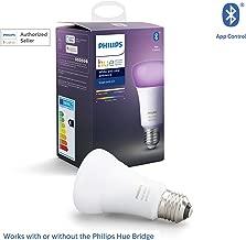 Philips Hue UAE White and Colour Ambiance LED Smart Bulb, Bluetooth & Zigbee compatible ( Hue Bridge Optional ), Works with Alexa & Google Assistant
