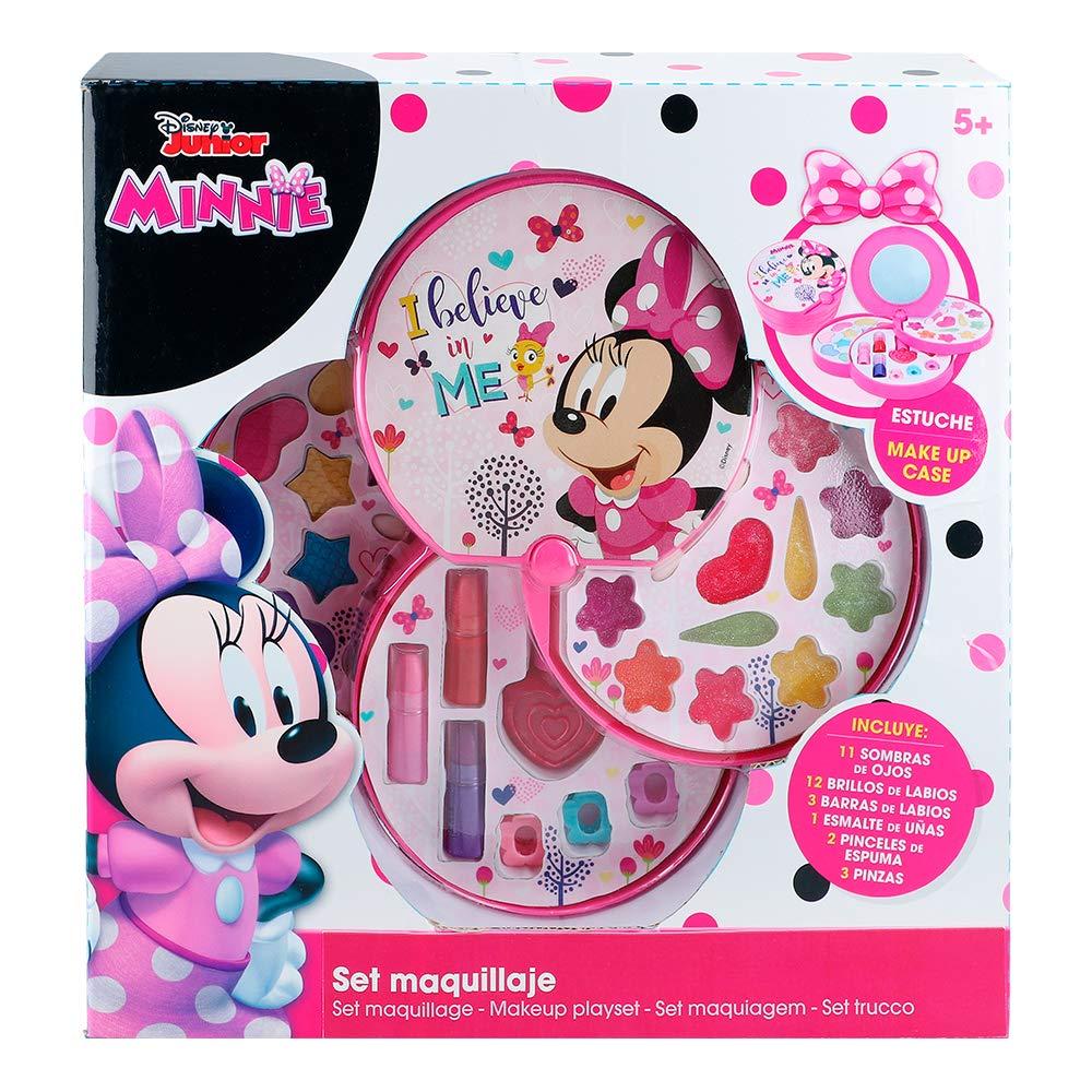 Disney - Set de maquillaje redondo con 3 niveles Minnie Mouse (ColorBaby 77198): Amazon.es: Juguetes y juegos