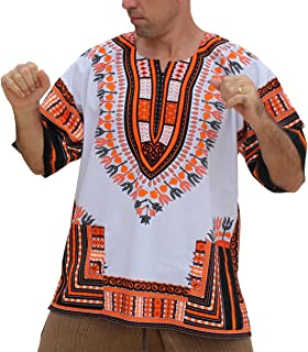 raanpahmuang 品牌中性款明亮非洲白色大喜吉装棉质衬衫