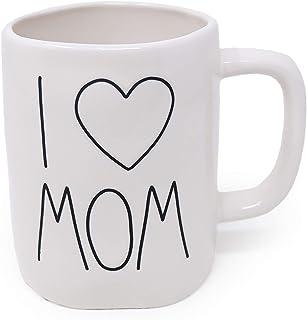 Rae Dunn Artisan Collection by Magenta I Love Mom Heart Icon Coffee Tea Mug LL