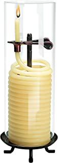 Candle by the Hour 80-Hour Citronella Candle, Glass Cylinder, Eco-friendly Natural Beeswax with Cotton Wick