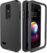 Case for LG K30 X410/LG Premier Pro L413DL/LG Phoenix Plus/LG Xpression Plus, AMENQ 3 IN 1 Heavy Duty Protection with Shockproof Silicone Rubber Shell and Scratch Resistant PC Armor Phone Cover -Black