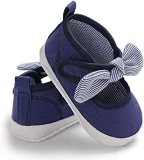 Toddler Infant Kids Girl Bowknot Soft Sole Crib Newborn Shoes