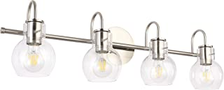 SOLFART Wall Lighting Bath Vanity Light Brushed Nickel Wall Decor Bathroom Light Fixtures (4 Lights-Exclude Bulb)