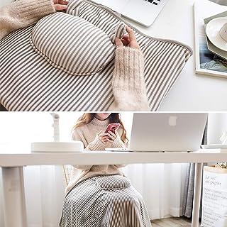 GPWDSN Resor uppvärmd filt elektrisk USB-uppvärmning kasta lugnande täckskydd, värmefilt dragkedja i kudden med bärrem för...