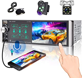 4.1 inch Single Din Car Stereo,Touch Screen Car Radio with Smart AI Voice, Am/Fm Radio with Bluetooth, 3USB /TF Card/ AUX-... photo