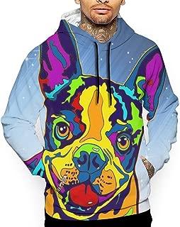 Uyhoijpo 057 6016x4000 Zcool.com.cn 19802158 Boston Terrier Men's Pullover Hoodie Sweatshirt S-XXL