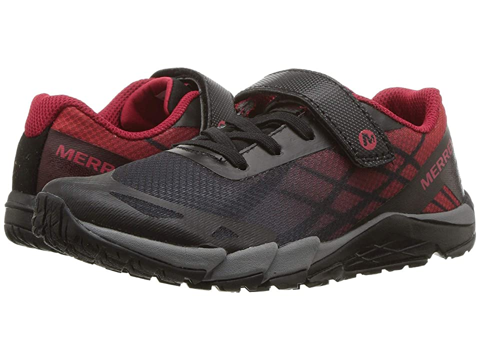 Merrell Kids Bare Access A/C (Little Kid) (Black/Red) Boys Shoes