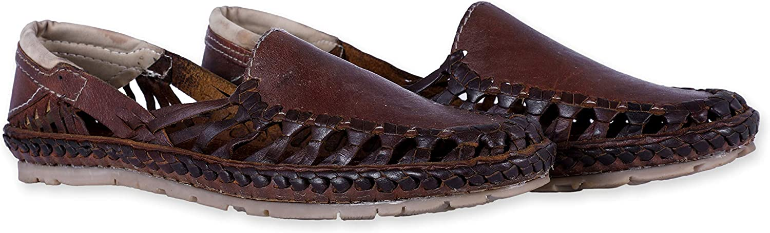 Desi Hangover Genuine Premium Leather Handmade Mens Casual shoes Slip-on Loafers Titan Brown shoes,