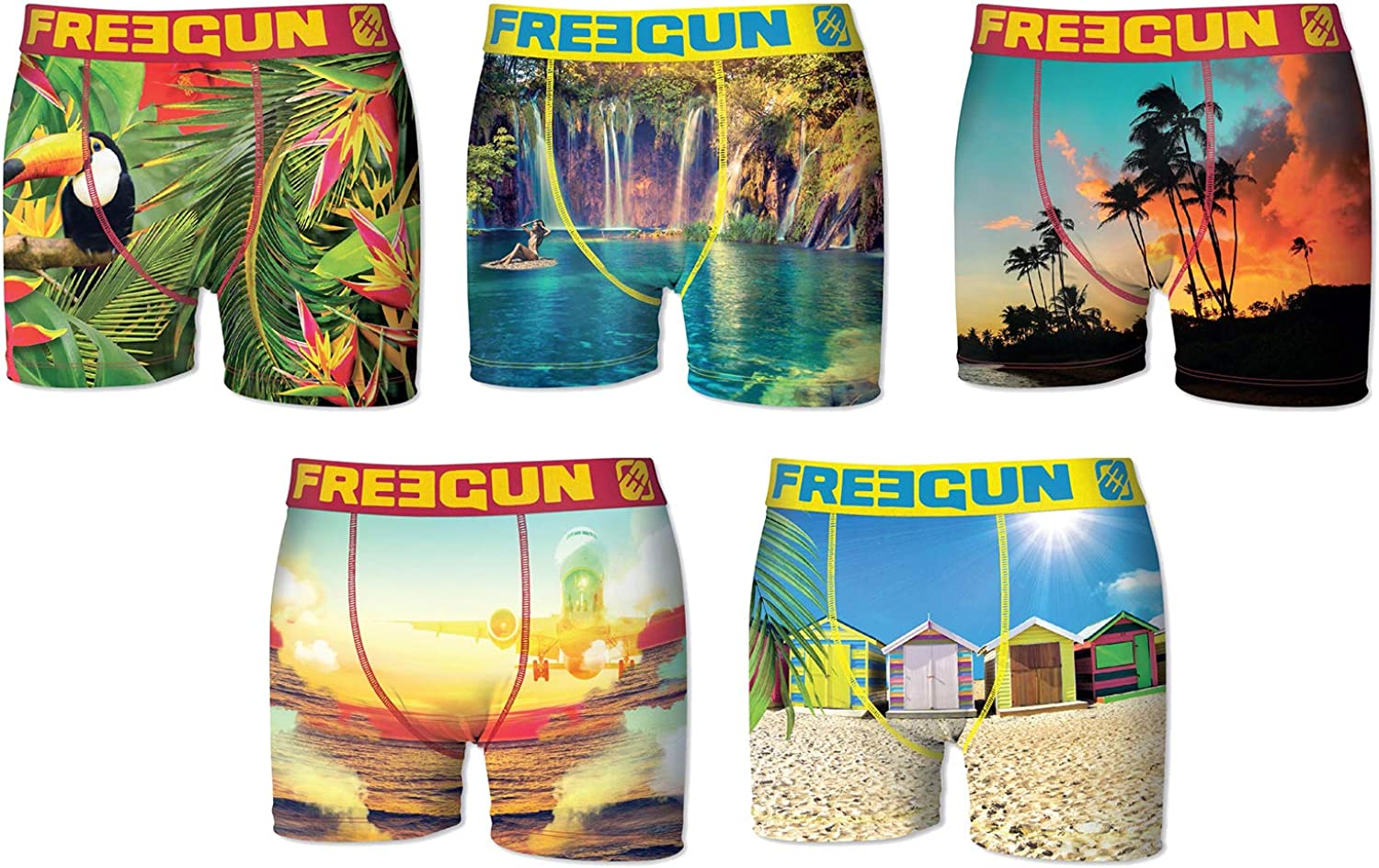 Freegun. Boxer for Boys FGP45 Holidays in Microfiber - Assortment Models Photos According to Arrivals-