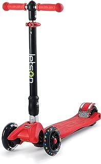 Jetson Twin Folding 3-Wheel Kick Scooter with Light-Up Wheels