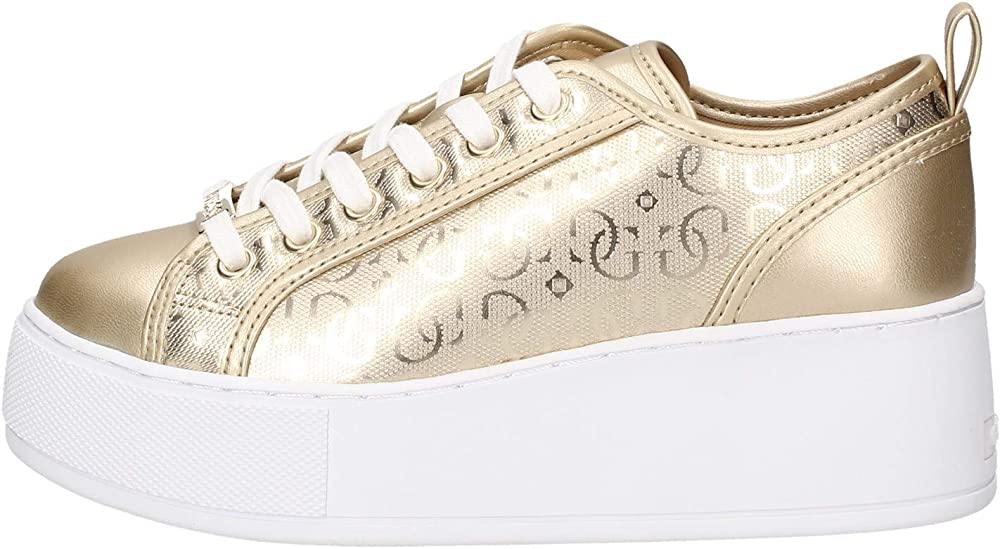 Guess neeka sneakers dorate da donna in pelle 41130
