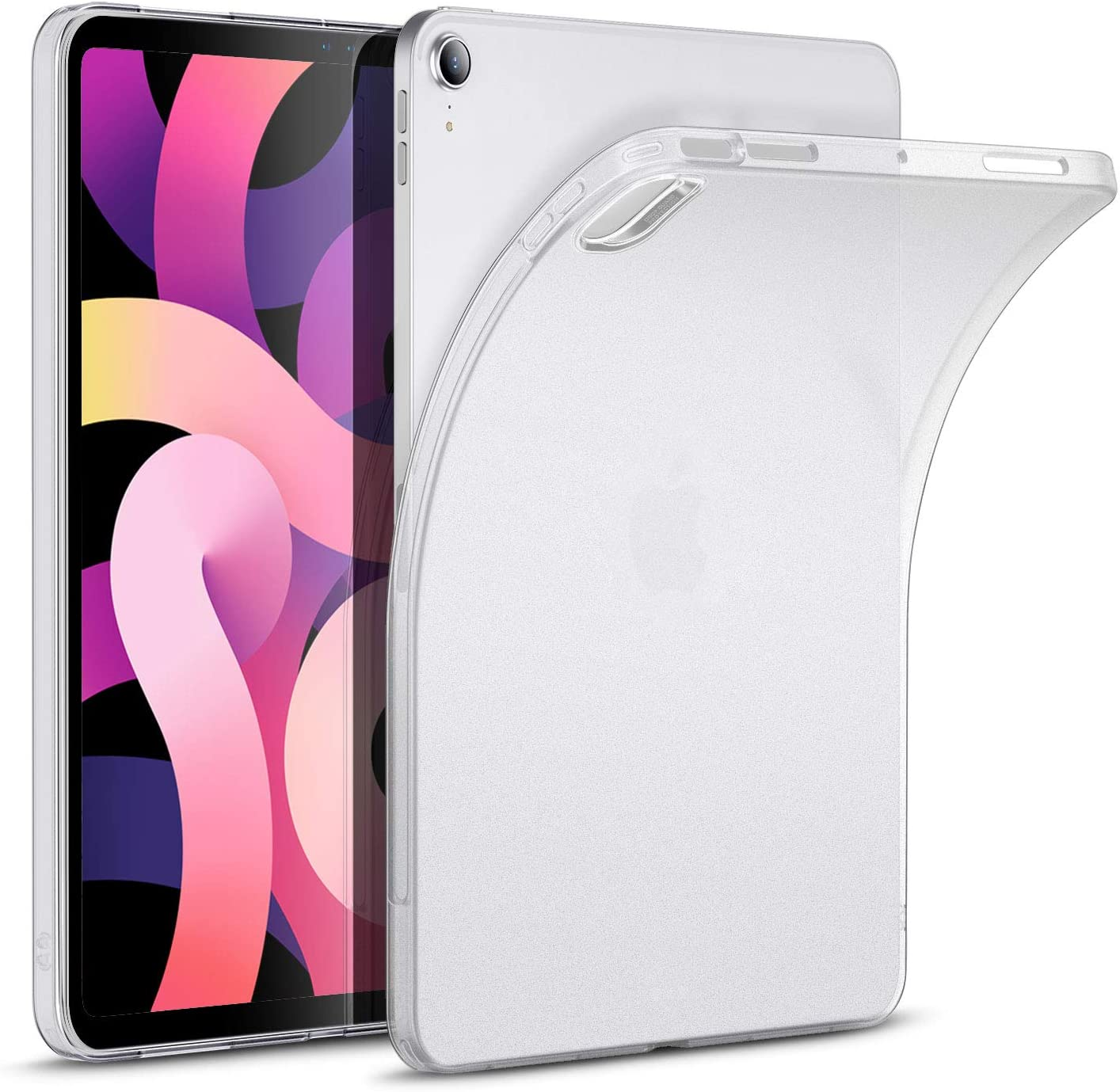 ESR Matte Case for iPad Air 4 2020 10.9 Inch [Translucent Back Cover] [Supports Pencil Wireless Charging] - Matte White