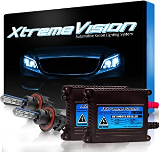 XtremeVision 35W Xenon HID Lights with Premium Slim Ballast - Bi-Xenon H13 / 9008 5000K - 5K Bright White - 2 Year Warranty