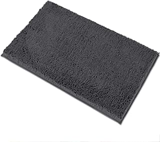 MAYSHINE Luxury Chenille Bath Mats for Bathroom Rugs Soft, Absorbent, Shaggy Microfiber,Machine-Washable, Perfect for Door...