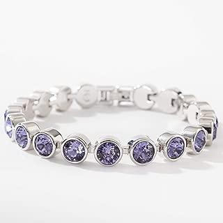 Touchstone Crystal by Swarovski Dark Purple Rhodium Ice Bracelet