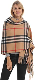 Classic Plaid Blanket Scarf, Cashmere Feeling, Cozy Warm for Winter