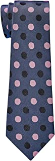 Retreez Two-Color Polka Dots Microfiber Boy's Tie - 8-10 years - Various Colors