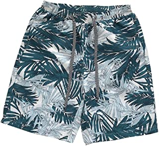 MogogoMen Printing Pattern Loose Shorts Summer Straight Shorts Pants