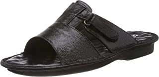 Coolers (from Liberty) Men's Black Leather Sandals and Floaters