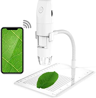 Chulovs Wireless Digital Microscope 1080P 50X to 1000X Magnification Microscopy with 8 LED, USB Handheld Camera with Light...