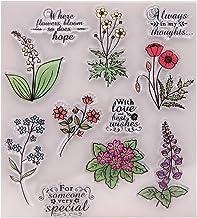 Horoshop Carimbo de borracha transparente de silicone de flores para álbuns de fotos em relevo, álbum decorativo