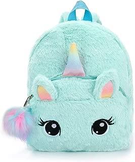 EsOfficce Plush Unicorn Backpack, Cute Mini Unicorn Backpack for Girls, School Bags for Nursery, Pink
