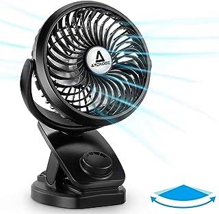 【2020年進化版】 卓上扇風機 【自動首振り&風量無段階調節】 小型扇風機 静音 usb扇風機 クリップ 充電式 360度角度調整 大容量5000mAh電池内蔵 最大60時間連続使用 アロマ 熱中症対策 ブラック