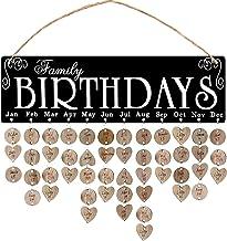Garneck Houten Familie Verjaardagskalender Muur Opknoping Verjaardag Herinnering Board Plaque Diy Verjaardag Tracker Gift ...