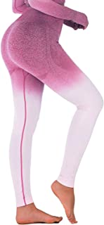 GYMMON -Free Sackpack- Ombre Seamless Leggings for Women - with Tummy Control High Waisted Power Stretch for Gym Yoga Workout