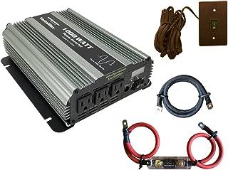 VertaMax PURE SINE WAVE 1000 Watt (2000W Surge) 12V 12 Volt Power Inverter DC to AC Power (Cables + Remote Control Switch + ANL Fuse + USB Port) - Solar, RV, Car, Boat