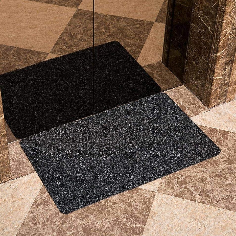 子豚警察コンプライアンス屋内/屋外玄関マット、掃除が簡単滑り止めPVCバッキングフロアマット入り口、廊下、テラス、ガレージに適しています-グレー-42×67センチメートル(17×26インチ)
