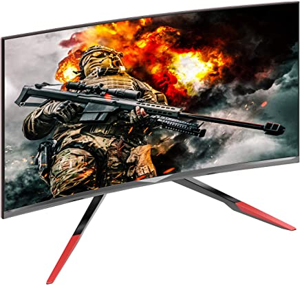 VIOTEK GN32DR 32-inch Curved Pro Gaming Monitor with Rage-Proof Adjustable Stand, 144Hz 1440P QHD, HDMI 2.0 DVI DP 1.2 (VESA)