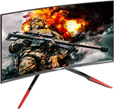 VIOTEK GN32DR 32-inch Curved Pro Gaming Monitor with Rage-Proof Height Adjustable Stand, 144Hz 1440P QHD, HDMI 2.0 DVI DP 1.2 (VESA)