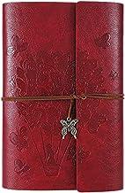bobotron Journal Notebook Ruled påfyllningsbar anteckningsbok skrivjournal med spiral diary sketchbook (A5 röd)