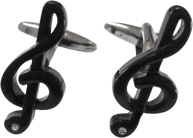 Black Musical Note Cufflinks