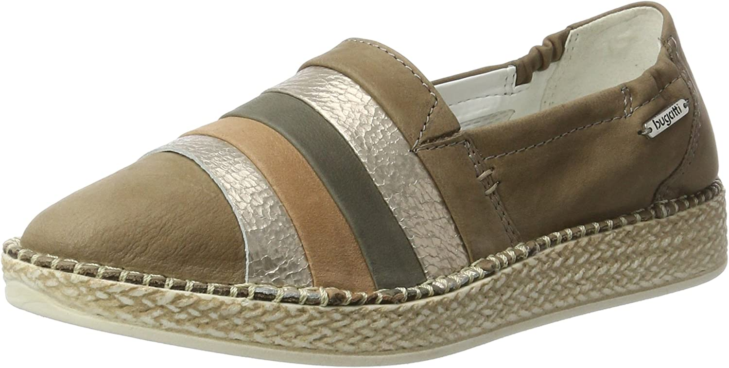 Bugatti Women flat Slipper grey, (taupe   d,grey) J95631-187