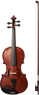 AmazonBasics Beginner Violin Bundle, Full Size, Solid wood,Natural - Bow, Strings, Strap, Tuner, Rosin, and Case