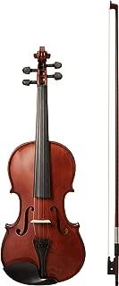 AmazonBasics Beginner Violin Bundle, Full Size, Solid wood,Natural - Bow, Strings, Strap, Tuner, Rosin, and Case