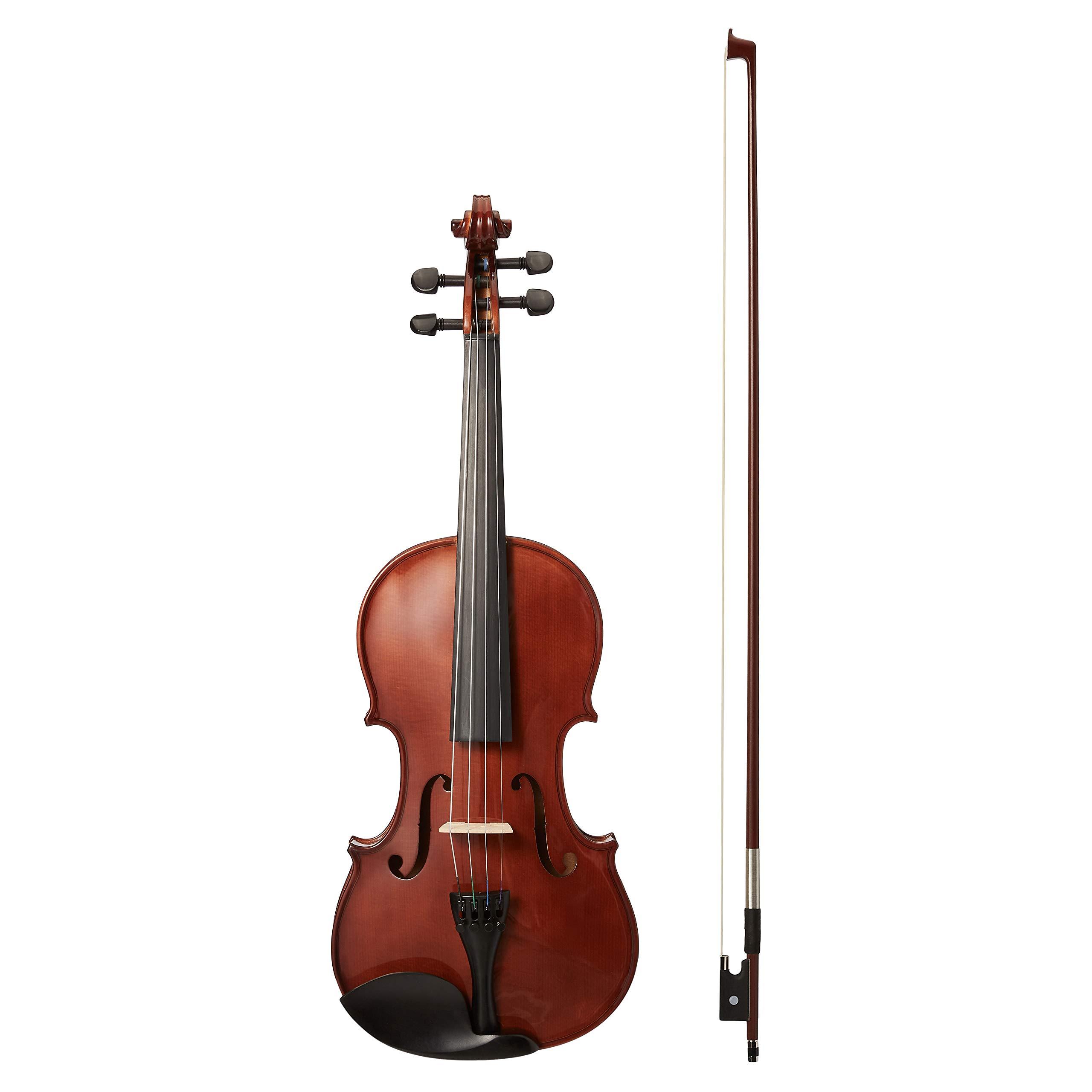 AmazonBasics Beginner Violin Bundle Natural