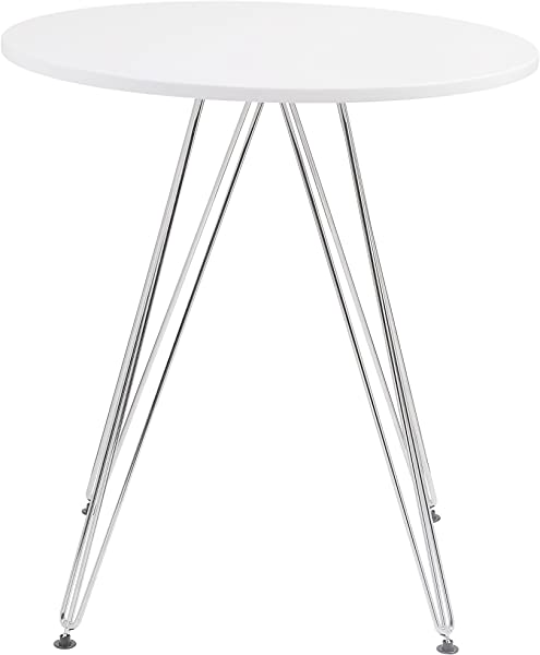 Emerald Home Furnishings D119 10 27WHT Audrey Dining Table Standard White