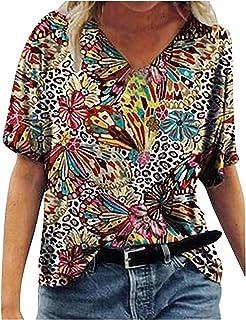 Amazon.es: Animal Print - Camisetas, tops y blusas / Mujer: Ropa