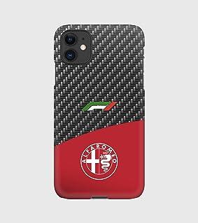 Custodie Carbon F1 Alfa Romeo per iPhone 12mini, 12, 12 pro, 12 pro max, 11, 11 pro, 11 pro max, XS, X, X max, XR, SE, 7+,...