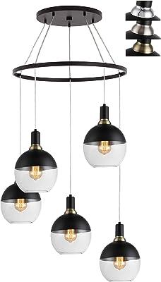 Woodbridge Lighting 19128BAZWL-C00870 Chandelier, Black/Bronze