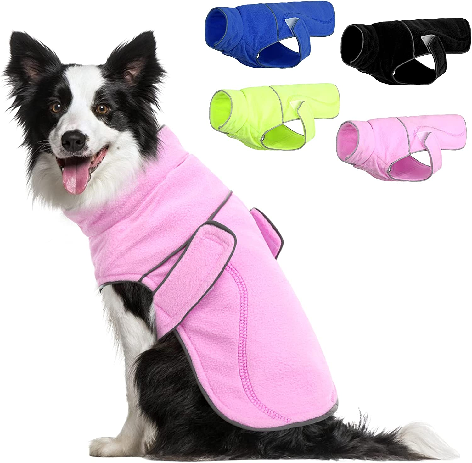 SUNFURA Fleece Winter Dog Online limited product Inexpensive Jacket for Reflective Cold Ad Weather