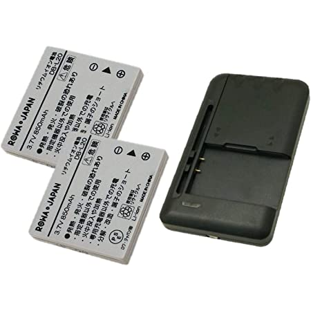 USB マルチ充電器 と SANYO 三洋電機 DB-L20 DB-L20A DB-L20AU【2個セット】互換 バッテリー【増量】【ロワジャパンPSEマーク付】